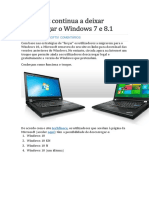 Microsoft Continua a Deixar Descarregar o Windows 7 e 8