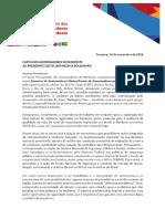 Carta de  governadores a Jair Bolsonaro