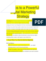 5 Steps to a Powerful Digital Marketing Strategy