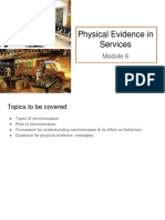 Module 6- Physical Evidence in Services