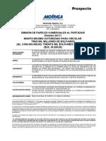 Prospecto Emisión Papeles Comerciales Molipasa Pc 2017-I