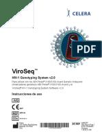 ViroSeq CELERA. CDx. HIV-1 Genotyping System v2.0. Instrucciones de Uso DRAFT
