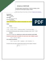 Arduíno e MATLAB- Apostila v2