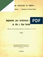 Reglamento para instalaciones eléctricas de alta y baja temsión - 1955 - Venezuela.pdf