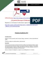 Finanzas Corporativas I Producto Académico N°2
