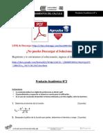 Fundamentos Del Calculo Producto Académico N°2