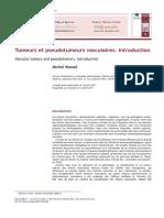 Tumeurs Et Pseudotumeurs Vasculaires Intro