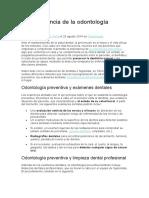 La Importancia de La Odontología Preventiva