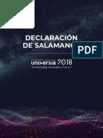 Declaracion de Salamanca 2018