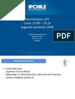 2° - 2018 Clase Geomecanica 201 Lunes AM