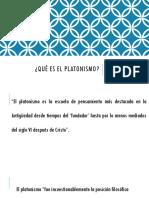 ¿Qué es el platonismo... Presentación.