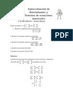 Autoevaluación MCS II Ecuaciones y Sistemas Matriciales