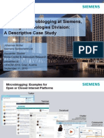 Enterprise Microblogging at Siemens, Building Technologies Division