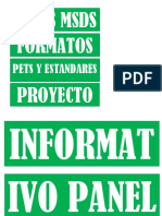 Letreros de Panel Informativo