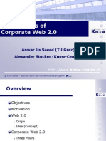 Three pillars of Corporate Web 2.0