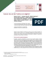 Cancer Du Col de l'Utérus en Algérie