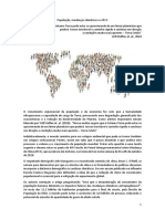 População, mudanças climáticas e o IPCC