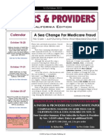 Payers & Providers – Issue of October 14, 2010