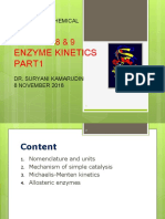 Chapter8&9 Enzyme Kinetics