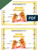 Diploma Miss Si Mister Boboc