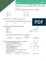 Teste de Avaliação 1- Geometria Analítica(Enunciado e Soluções)