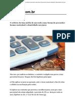 O Critério Da Taxa Média de Mercado Como Forma de Preencher Lacuna Contratual e Abusividade Nos Juros