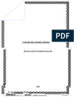 Cours de Fondations Fondations Superficielles 1