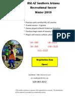 RSL-AZ Soccer Winter 2019