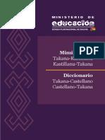 Diccionario Takana - Castellano