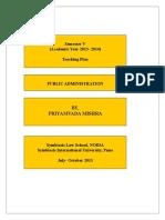 Pub Admn Teaching Plan.doc