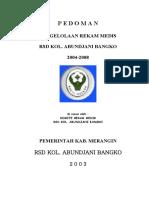 PEDOMAN REKAM MEDIS 2005-2010