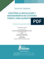 Guía Para La Instalación y Mantenimiento de Catéteres Puerto, Para Quimioterapia