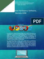 Diferencia entre software y Hardware y el decreto 3390