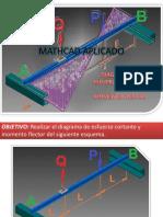 Mathcad Aplicado-diagrama de Cortante y Momento Flector
