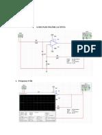 Low Pass Filter Active