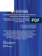 Maestría en sistemas integrados de gestión de la calidad, ambiente y seguridad