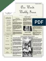 Newsletter Volume 9 Issue 37