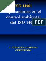 Aplicaciones en El Control Ambiental Del ISO 14001 en El País[171]