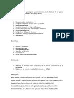 Historia de La Iglesia Antigua y Medieval