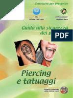 GUIDA ALLA SICUREZZA DEI PRODOTTI - Piercing e Tatuaggi