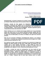 Articulo Sobre El Premio a Pedro Carreras