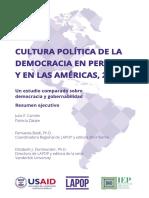 Cultura Politica  2018 - Peru Resumen Ejecutivo