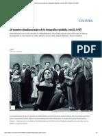 20 nombres fundamentales de la fotografía española