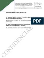 Balance de Materia y Energía Sección A100 RGH