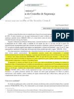 O Brasil e a Reforma Do Conselho de Segurança