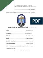 Estructura Del Proyecto de Investigación Upla 2018