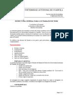 Estructura de tesis FEM UADEC