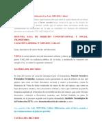 Casación Laboral Nº 3289-2015, Callao (Para Casacion) - Si