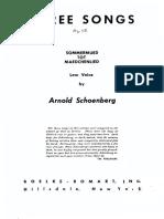 Schoenber Op 48 3 Lieder