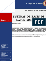 Sistemas de Bases de Datos Distribuidas